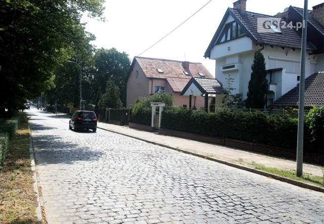 Kostka Brukowa na ul. Żołnierskiej w Szczecinie