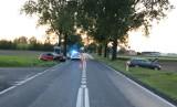 Wypadek w gminie Strzelno. Do zderzenia doszło podczas wyprzedzania