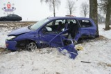 Wypadek w gminie Sawin: Zderzenie BMW z fordem. Ranna jedna osoba (ZDJĘCIA)