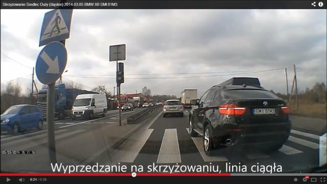 BMW szaleje na DK 1 w Siedlcu Dużym