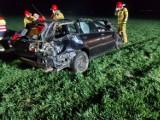 Wypadek w Granowie: Wyprzedzał, pędził lewym pasem i przejechał przez drogowe słupki