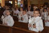 Pierwsza Komunia Święta w parafii pw. św. Wojciecha w Wągrowcu. Zdjęcia pierwszej grupy
