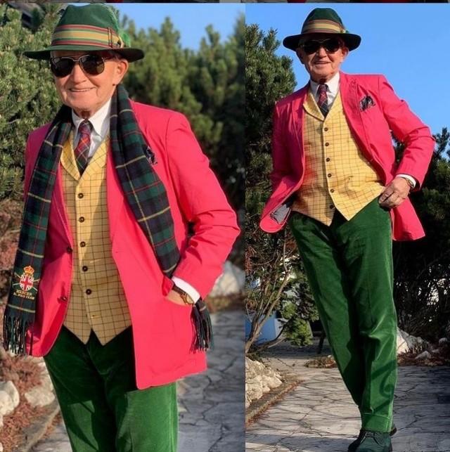 Andrzej Żylak z Rybnika podbija świat mody. Zobaczcie jego kolorowe stylizacje