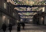 Tak będą wyglądać w Krakowie świąteczne dekoracje. Ładne, ale cena niemała