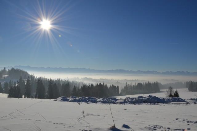 Tak niestety często wygląda w zimie niebo nad Nowym Targiem