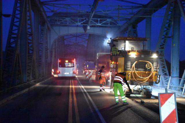 Najbliższe nocne prace na moście drogowym w Toruniu zaplanowano w nocy z poniedziałku na wtorek (27 - 28 lipca)