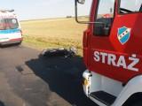 Groźny wypadek motocyklisty [ZDJĘCIA]