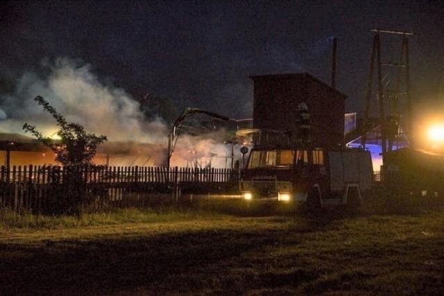 Damian S. został zatrzymany tuż po wywołaniu pożaru tartaku w Chotowej