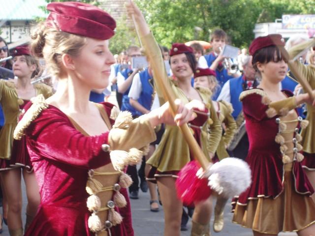Największą atrakcją ubiegłorocznych Dni Muzyki, były występy orkiestr dętych i pokaz musztry paradnej