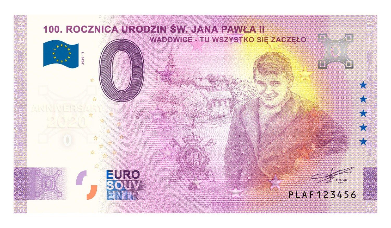 Karol Wojtyła na banknocie o nominale 0 euro. Czy to nie przesada? Zobaczcie, jak to wygląda [ZDJĘCIA] | Olkusz Nasze Miasto
