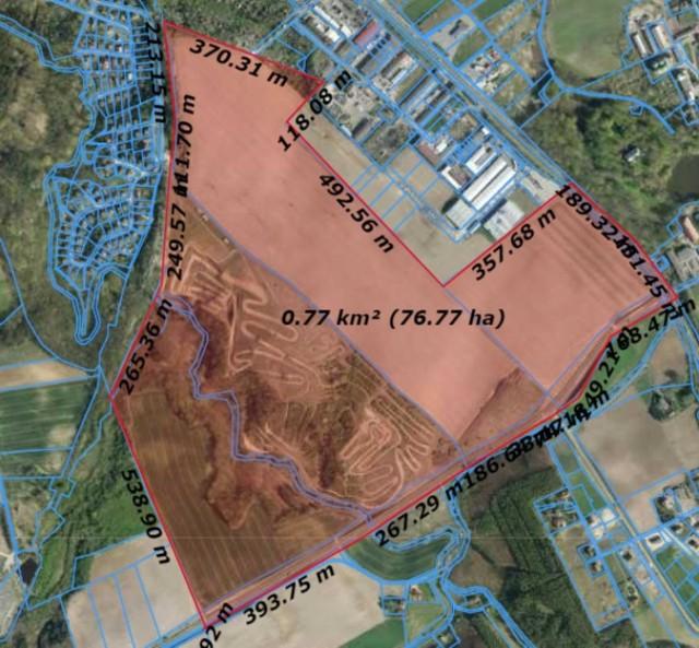 Podczas sesji Rady Miasta Chełmna wskazano mapę z terenem gminy Stolno, którym zainteresowani są w mieście