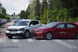 Zderzenie czterech aut na skrzyżowaniu Młynarskiej i Polnej w Kaliszu ZDJĘCIA