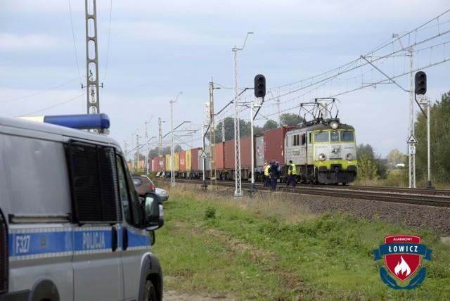 Pociąg towarowy wjechał na jedyny tor do Łowicza bez wymaganej zgody