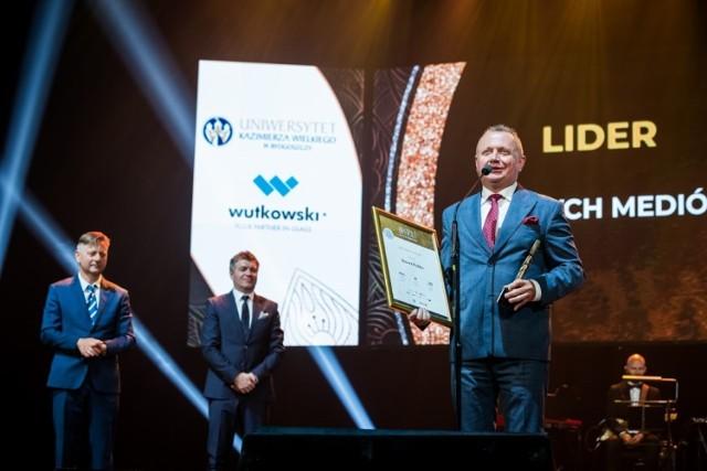 Waldemar Smoliński, właściciel firmy S'OUVRE w Inowrocławiu podczas tegorocznej gali Złotej Setki Pomorza i Kujaw
