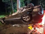 Śmiertelny wypadek na trasie Szamocin-Białośliwie. 20-letni kierowca zginął na miejscu