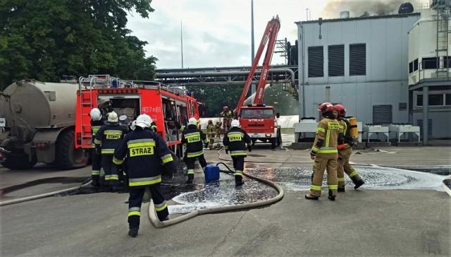Pożar stacji transfomatorowej w Piaszczynie