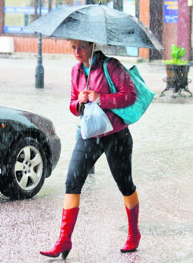 W ten weekend parasolka  będzie niestety konieczna