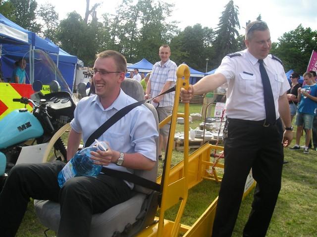 Policja przygotowała do testowania symulator zderzeń