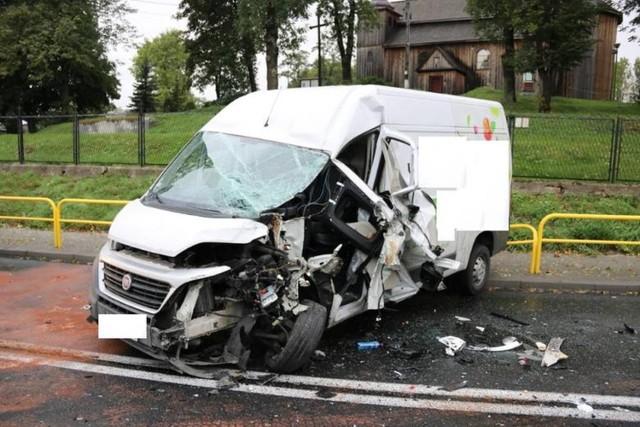 Migawka z wypadku, do jakiego doszło w Wylatowie