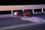 Wypadek koło Obornik Śląskich. Zginął motocyklista [ZDJĘCIA]