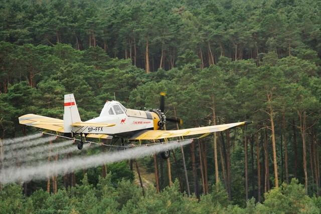 Trwają kolejne opryski lasów w powiecie ostrowskim. Trzeba uważać w lasach!