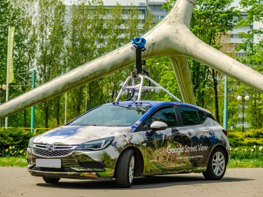 Pojazd Google widziany kilka tygodni temu w Parku Śląskim w...