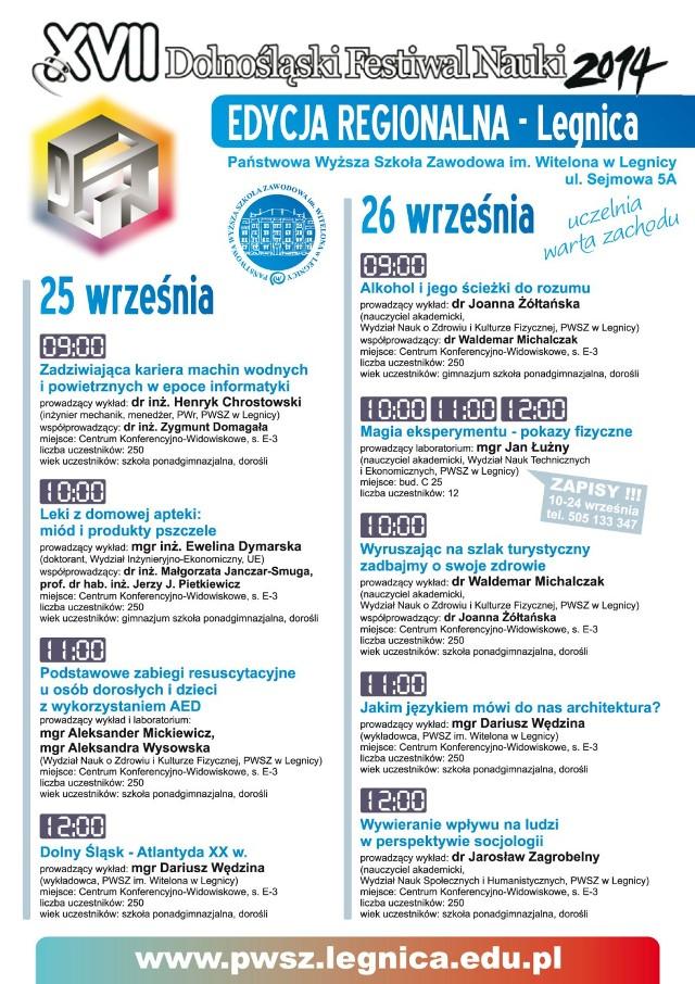 Festiwal nauki w legnickiej PWSZ im. Witelona