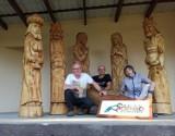 Udany plener w Mochlu. Za rok rzeźbiarze z Pałuk też przyjadą do gminy Sicienko [zdjęcia]
