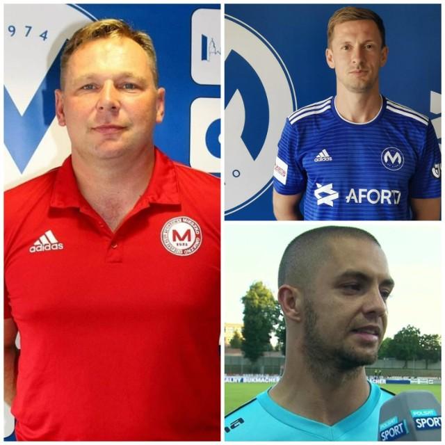 Od lewej: Mariusz Bekas, Damian Sędziak i poniżej Sławomir Janicki