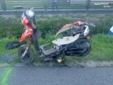 Tragiczny wypadek w Cynkowie. Zderzenie skutera z osobówką, zginął 64-latek