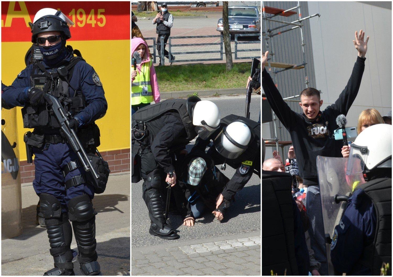 Kolejny protest w Głogowie. Policja użyła gazu łzawiącego, a uczestników spisano. Zdjęcia