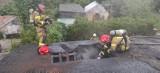 Pożar domu jednorodzinnego w Chełmnie. Niemal 20 strażaków w akcji. Zdjęcia