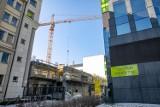 Kampus Akademii Górniczo-Hutniczej. Powstaje nowy budynek. Będą tam laboratoria komputerowe [ZDJĘCIA]