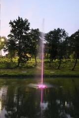 W Parku Chrobrego można ogądąć pływającą fontannę