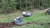 Wypadek w Stryszku pod Bydgoszczą. Samochód dachował [zdjęcia]