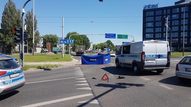 Śmiertelny wypadek na rondzie Solidarności w Łodzi