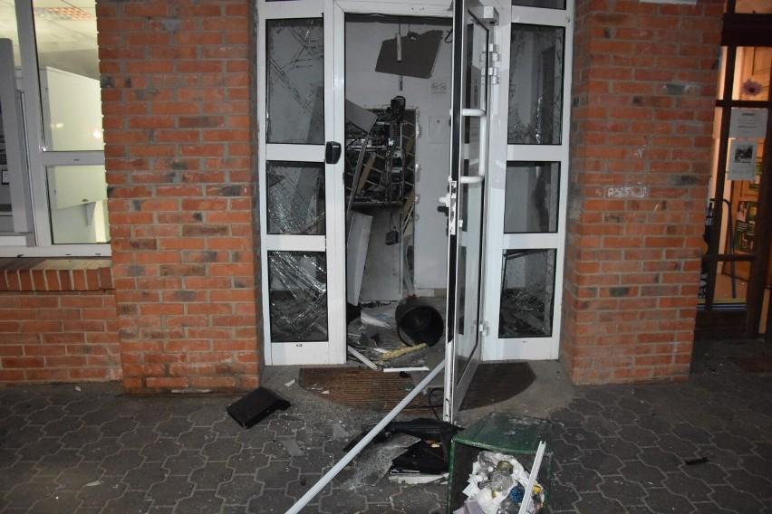 Wybuch bankomatu przy ul. Chłapowskiego w Śremie