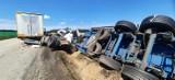 Koszmarny wypadek na A4 na wysokości Zagrodna. Z ciężarówki zostały strzępy