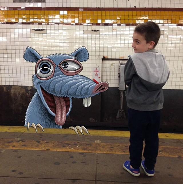 Potwory są wśród nas. Ten artysta pozwala nam je dostrzec. Zobacz komiczną galerię