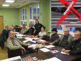Działkowcy z policjantami chcą wspólnie bronić ogródków działkowych w Żorach