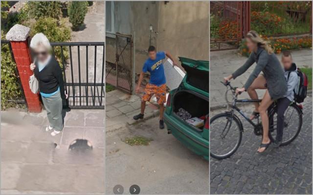 Mieszkańcy Raciążka uchwyceni przez Google Street View