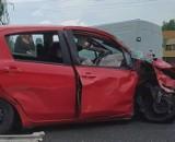 Wypadek w Zabrzu. Zderzenie samochodów na DK88 w pobliżu M1. 36-latka zakleszczona w aucie