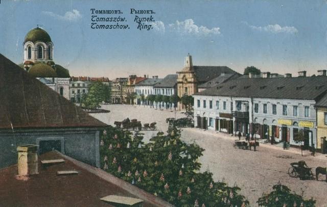 Plac Kościuszki w Tomaszowie na starych zdjęciach