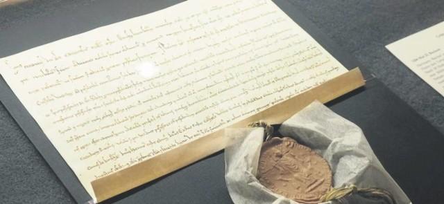 Jeśli nie było was jeszcze w Muzeum w Koszalinie, koniecznie się tam wybierzcie. Tylko do końca sierpnia można oglądać tam wyjątkową wystawę  Cossalin ad fontes z dokumentem lokacji miasta