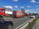 Bytom: Śmiertelny wypadek na alei Jana Pawła II. Zginął motocyklista. Trasa DW911 jest zablokowana