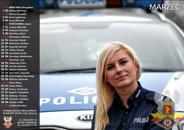 Policjantki kalendarz 2016