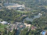 Kto pamięta? Tak wyglądał Park Śląski 14 lat temu - ZDJĘCIA z powietrza. Zobacz Wesołe Miasteczko, Stadion Śląski, Planetarium...