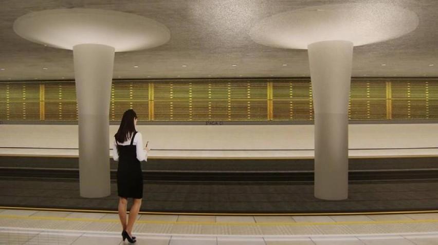Wizualizacje peronu stacji na bemowskim odcinku