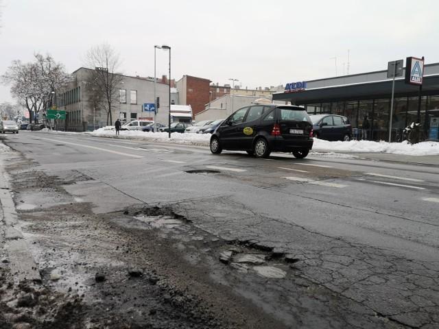 Ul. Sobieskiego w Tarnowskich Górach (zima 2019)