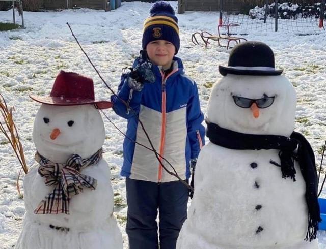 Śnieżne bałwany nagrodzone w konkursie